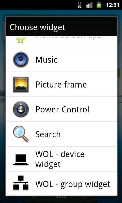 WOL - Wake on Lan (widget)- screenshot