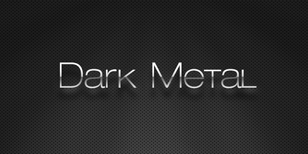 FREE Dark Metal GO Theme