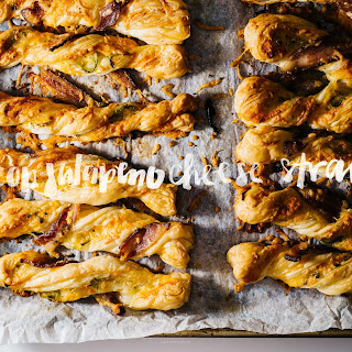 Crispy Crunchy Spicy Jalapeño Bacon Puff Pastry Cheese Twists.