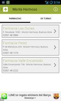 Screenshot of Farmacias de Bahía Blanca