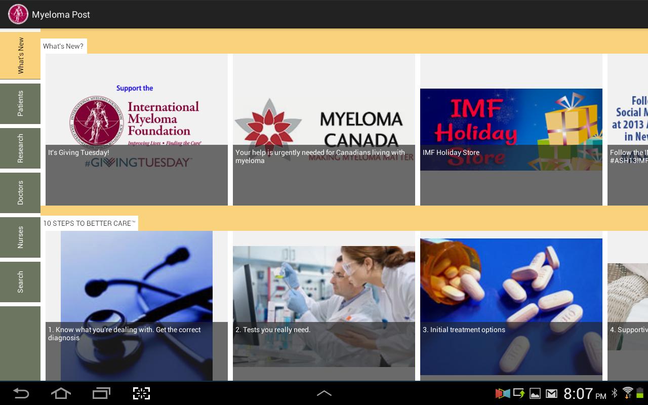 Myeloma Post - screenshot