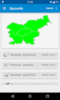 Screenshot of Dež - Slovenian rain radar
