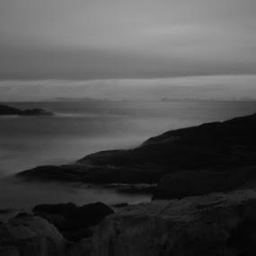 Dark evening by Sigbjørn Berg - Landscapes Waterscapes