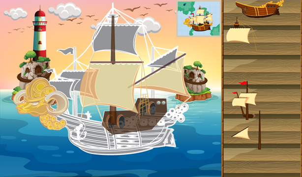 Animated puzzles ship- screenshot
