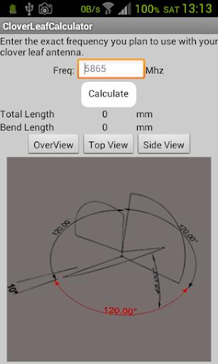 FPV Clover Antenna Calculator