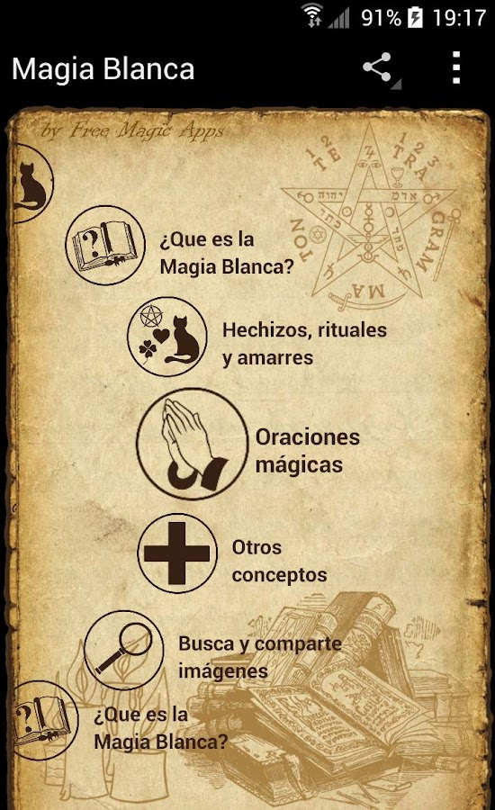 Magia blanca hechizos rituales android apps on google play - Conjuro buena suerte ...