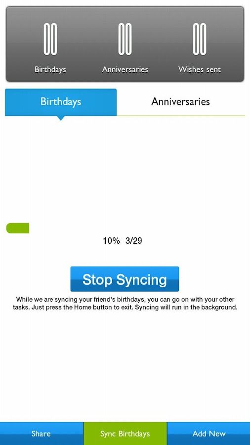 Yaum Birthday Anniversary App - screenshot