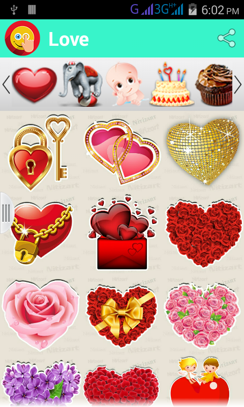 Stickers :Touch N Share- screenshot