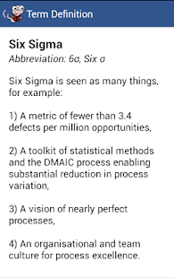 Six Sigma Glossary- screenshot thumbnail