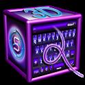 SlideIT Purple 3D Skin icon