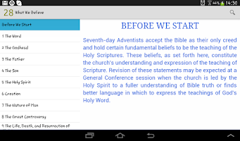 Screenshot of What Adventists Believe