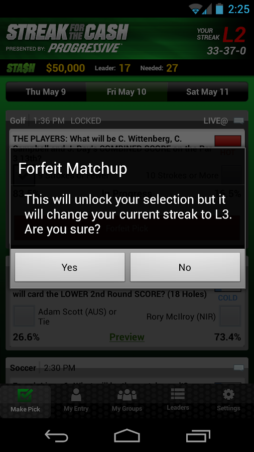 ESPN Streak For The Cash - screenshot