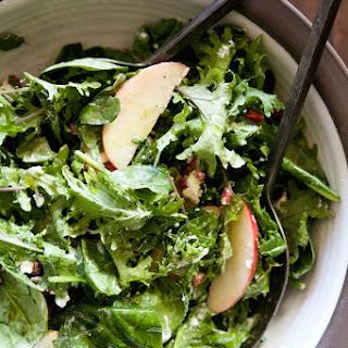 Apple, Pomegranate & Goat Cheese Salad