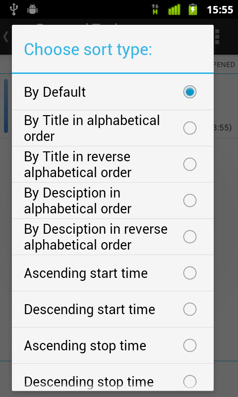 TimeAct To-Do / Tasks List - screenshot
