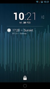 DashClock Sunrise Extension- screenshot thumbnail
