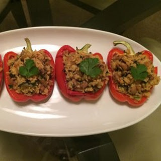 Bela's Stuffed Red Bell Peppers