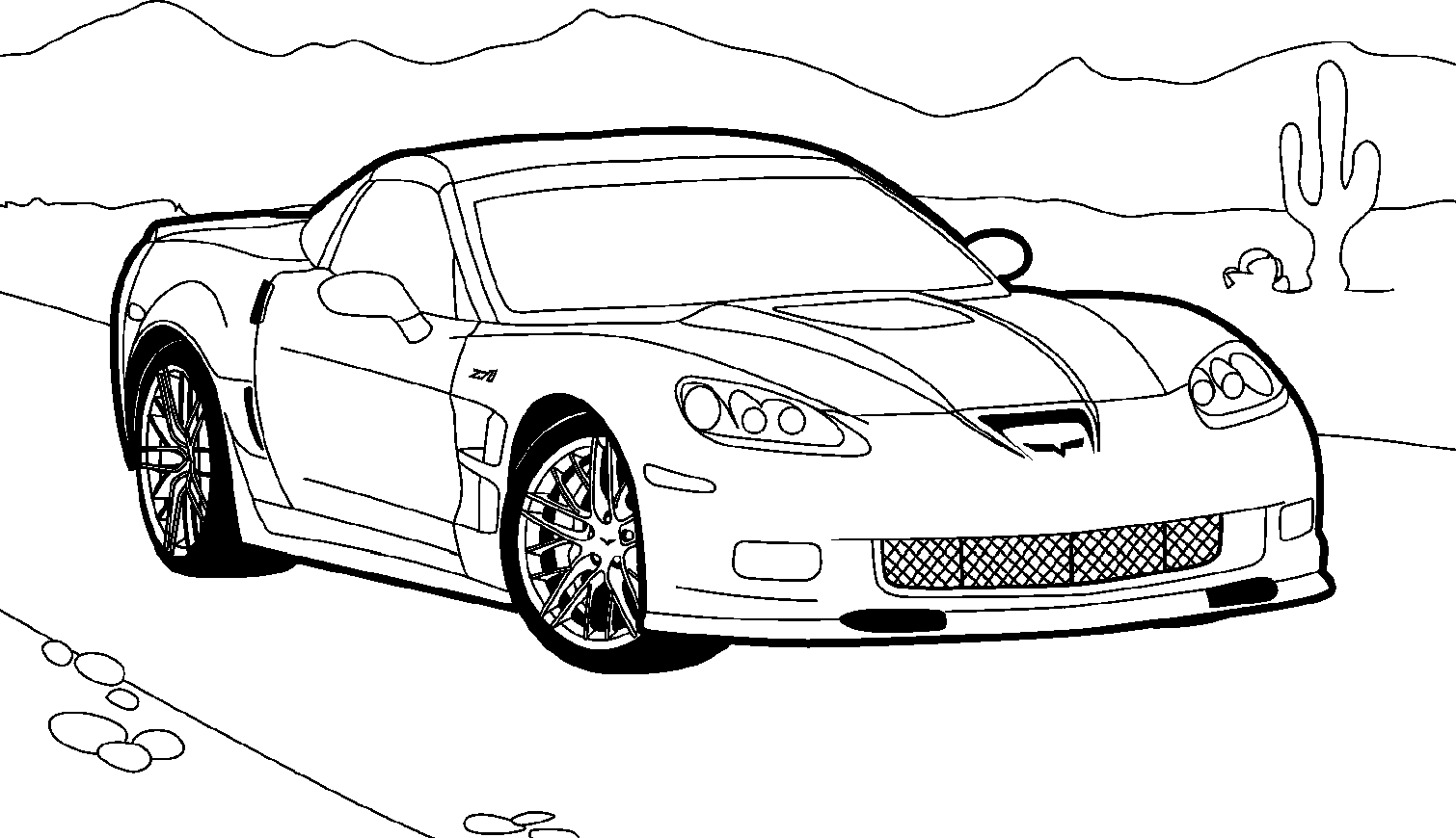 Race Cars Coloring