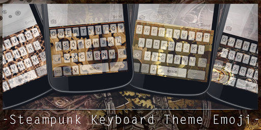 Steampunk Keyboard Theme Emoji