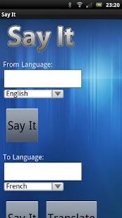Say It- screenshot thumbnail
