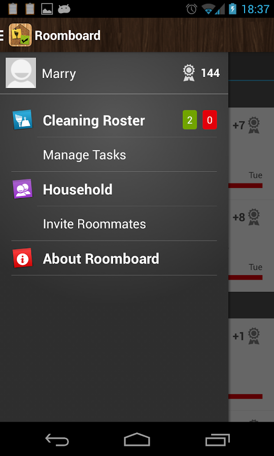 Roomboard - Cleaning Roster - screenshot