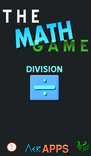 The Math Game - Division