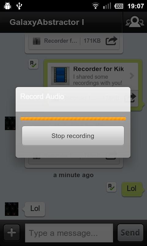 Recorder for Kik- screenshot