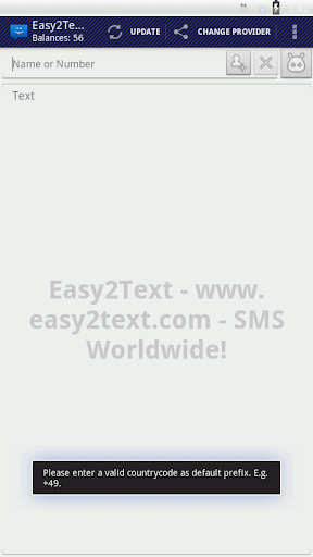 WebSMS Connector: Easy2Text