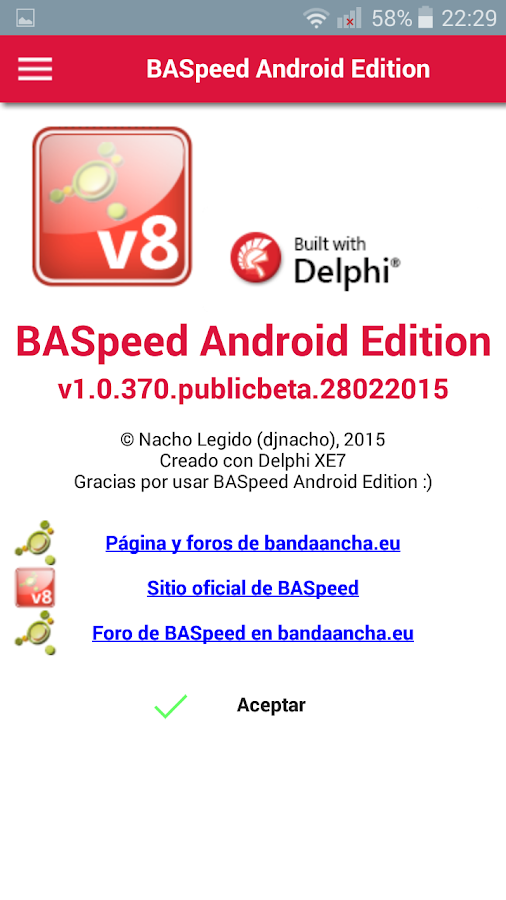 BASpeed Android Edition: captura de pantalla