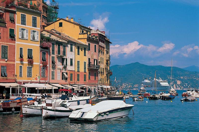 Discover the charming Italian fishing village of Portofino during a Mediterranean cruise aboard Seven Seas Navigator.