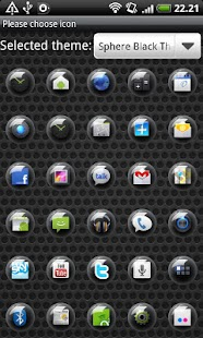 Sphere Black GO Launcher Theme - screenshot thumbnail
