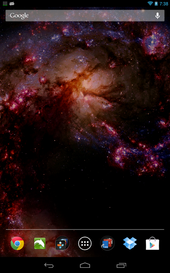 Space Live Wallpaper Pro - screenshot