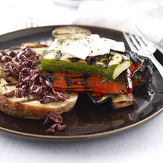 Grilled Ratatouille with Ricotta and Charred Bread Recipe