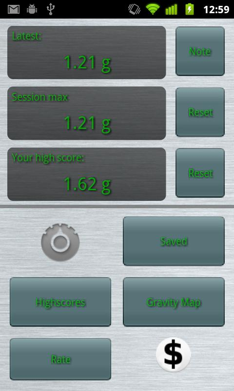 Grav-O-Meter - screenshot