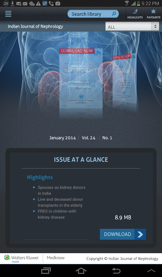 Indian Journal of Nephrology- screenshot