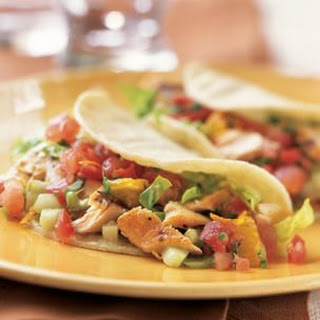 Fish Tacos with Tomato and Orange Salsa