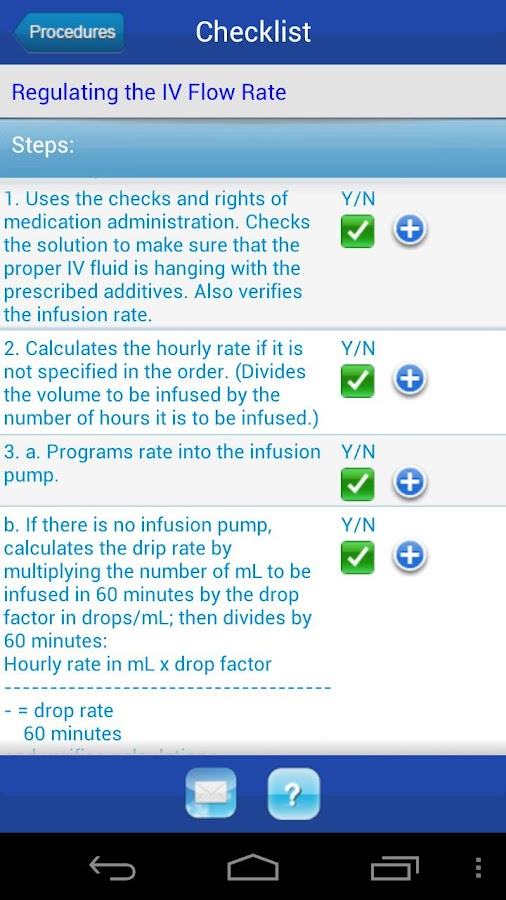 Nursing Procedure Checklists - screenshot