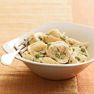 Creamy Tortellini With Peas.