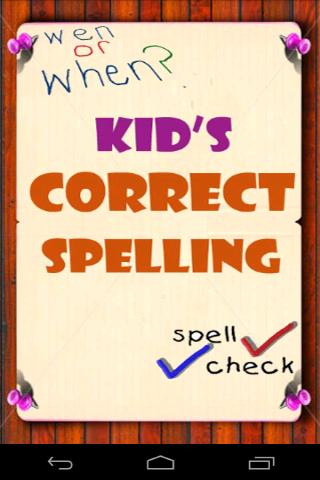 Kids Correct Spelling