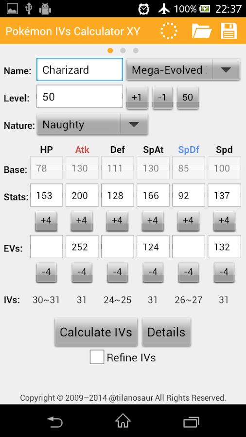 ivs damage calculator xy android apps on google play. Black Bedroom Furniture Sets. Home Design Ideas