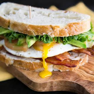 Breakfast BLT Sandwich.