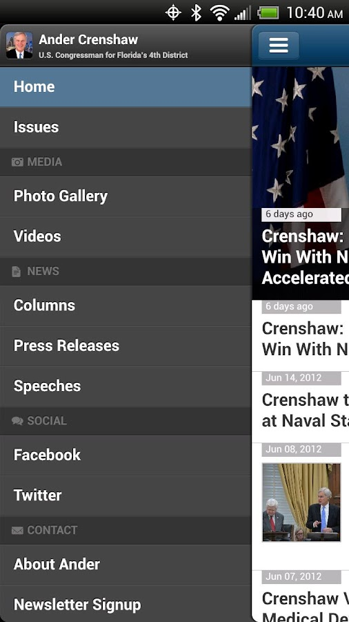 Congressman Ander Crenshaw- screenshot