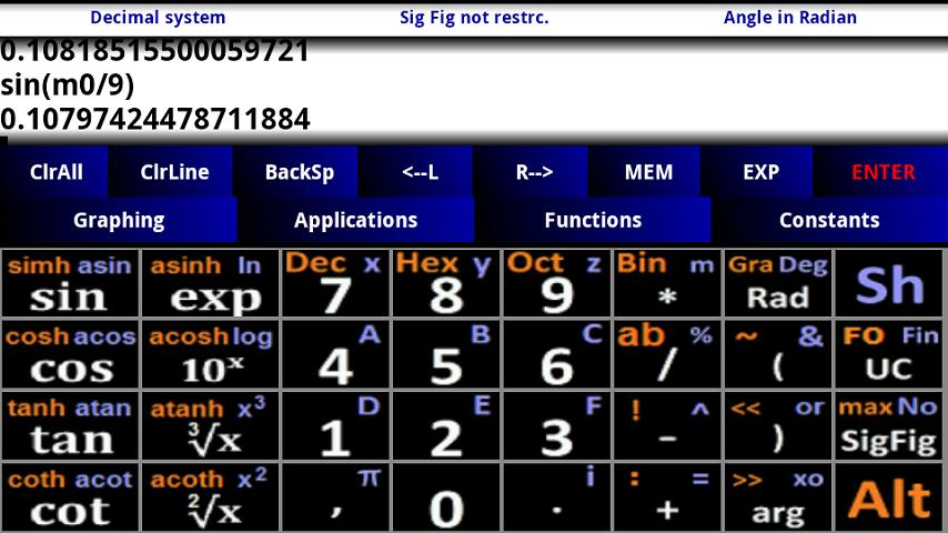 Scientific Graphing Calculator- screenshot