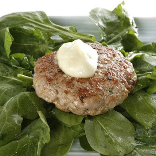 Tuna Burgers with Wasabi Mayonnaise.