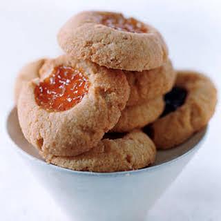 Almond Thumbprint Cookies.