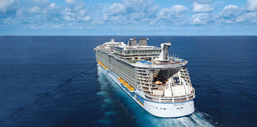 Oasis-of-the-Seas-aerial - Book a romantic cruise to the Caribbean on Oasis of the Seas.