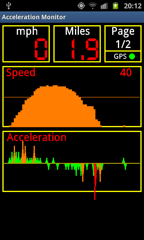 Acceleration Monitor- screenshot