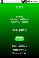 Screenshot of Chaine de Mots Lite