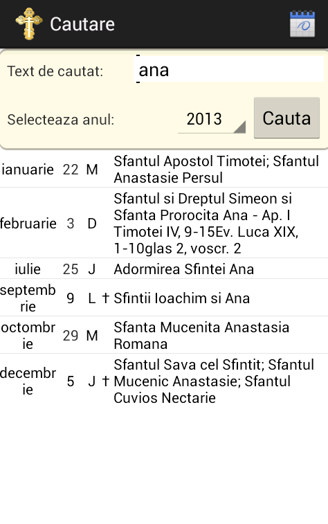 Orthodox Calendar 2013 - 2016- screenshot