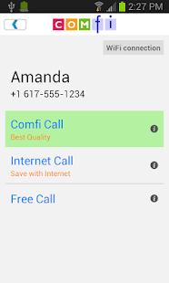 Comfi Free International Call - screenshot thumbnail