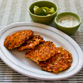 Asian Flavored Wild Salmon Patties with Ginger, Scallions, and Sesame-Lime Mayonnaise.